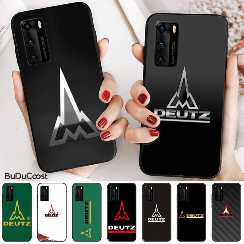 Mantrn Deutz fahr, funda negra para teléfono móvil para Huawei P20 P30 P20Pro P20Lite P30Lite Psmart P10 P40 pro