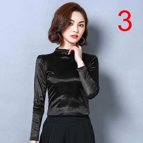 High Quality J45410 New Fashion Women Autumn Shirts Basic Shirt