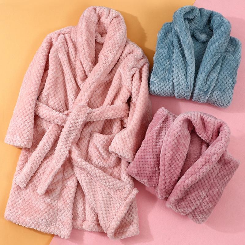 4-18 Year Autumn Winter Bathrobe kids sleepwear robe 2020 Children bath robe warm soft pajamas for g