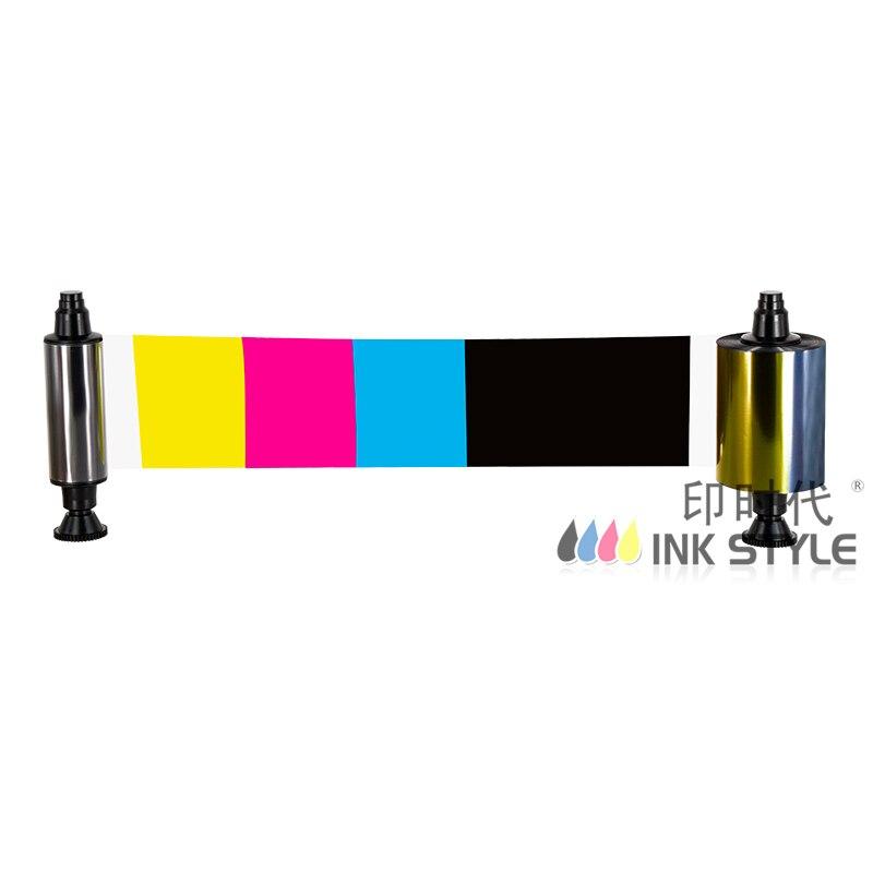 Paquete de 10 Uds. Cinta genérica Evolis R3013 1/2Panel Color YMC (mitad) KO uso en Pebble4 Dualys Sualys3 tarjeta Securion impresora