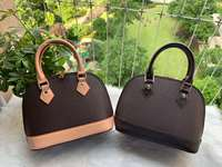 ALMA BB shell bag women handbag leather flower Embossed shoulder bags crossbody bag Messenger handbags with lock Shoulder strap