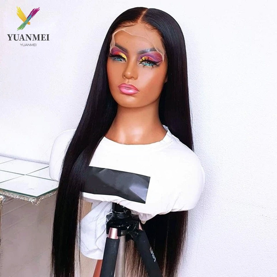 Brazilian Straight Lace Front Wig 150% Lace Frontal Wig 4x4 Closure Wig Remy 40 Inch Lace Front Human Hair Wigs Pre Plucked