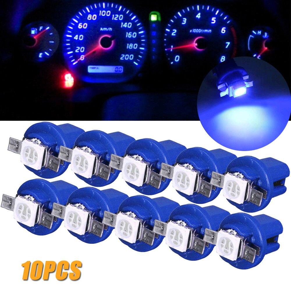 10 pçs t5 b8.5d 509t b8.5 smd carro lâmpada led para opel zafira b corsa d insignia mokka rega