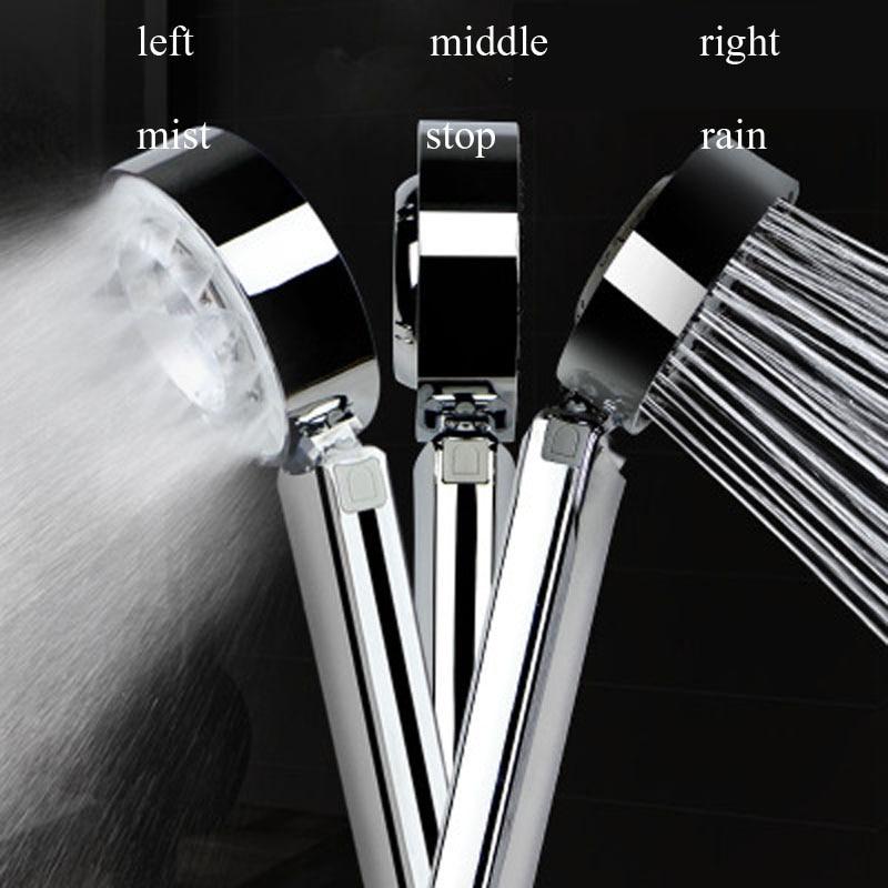 LASO neblina, ducha de alta presión, cabezal de ducha giratorio de mano para ahorrar agua, 2 modos, soporte de ducha de mano y manguera, pulverizador de Ducha