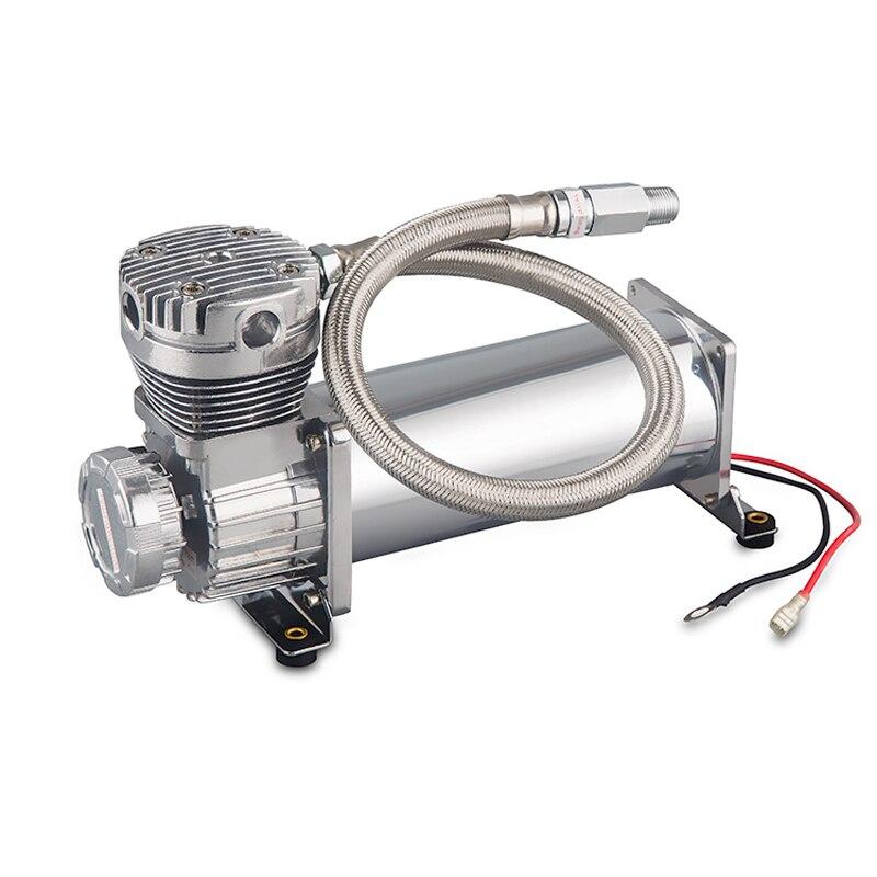 DC 12V 480c MAXPOWER 200 PSI OUTLET 3/8 or 1/4 car Air Suspension Compressor/pump