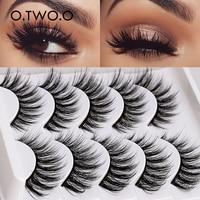 O.TWO.O 5 Pairs 3D Mink Lashes False Eyelashes Makeup Tools Natural Long Thick Volume Eyelashes  Beauty Fluffy Eyelashes
