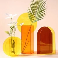 o roselif acrylic vases floral container decorative flower design wedding party flowers centerpieces home office decor