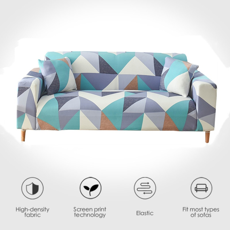 Funda de sofá elástica impermeable para casa de estar, 1/2/3/4plazas