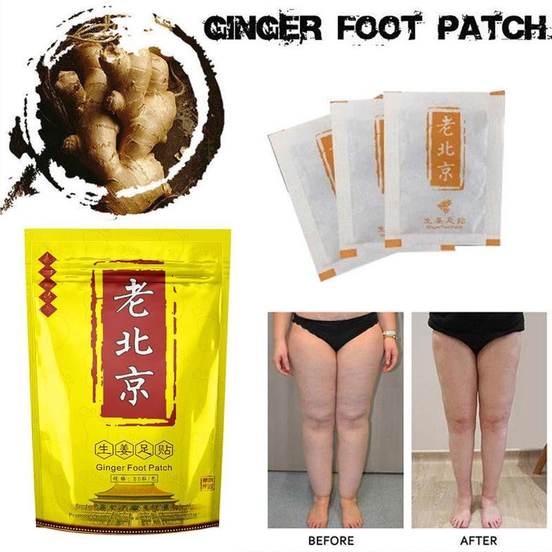 10/20/30/40pcs Detox Foot Patch Foot Peel Mask Body Relax Swelling Ginger Chinese Herbal Adhesive Pads Foot Treatment Mask недорого