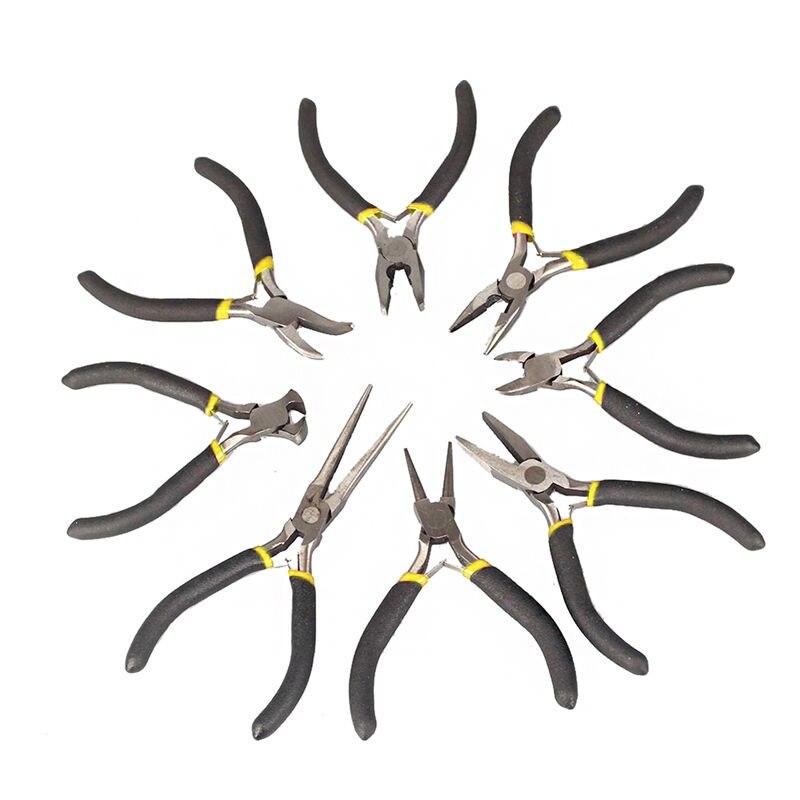 OOTDTY, herramientas para hacer joyas, alicates para rebordear, Kit de cuchillas laterales de alambre plano redondo, superventas