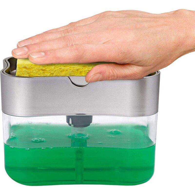 Жидкого мыла ручной Чистящая губка Caddy Кухня ручной Пресс мыло насос жидкого мыла для рук Ванная комната гель для душа с помпой ручной Пресс ...