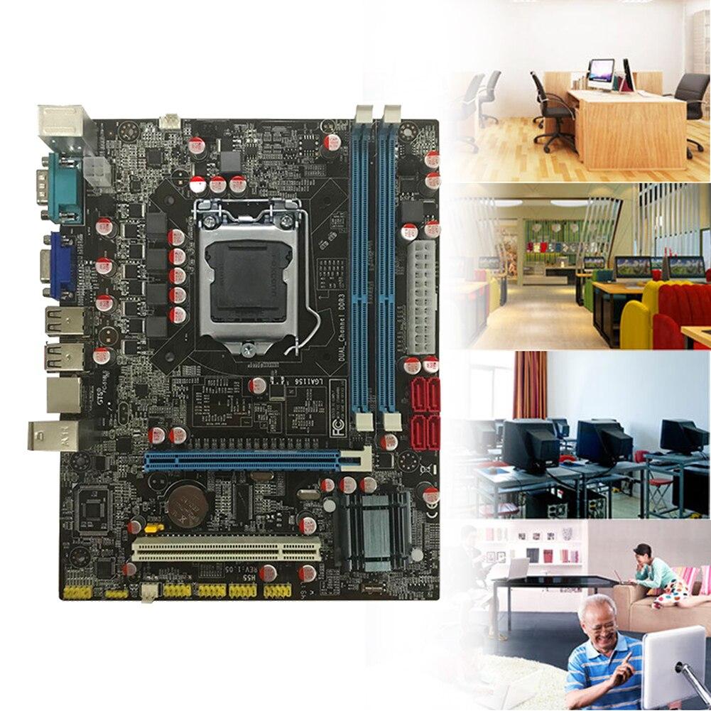 Placa base de ordenador Mini duradera integrada gran capacidad de memoria accesorios de doble canal puertos USB hogar alta compatibilidad