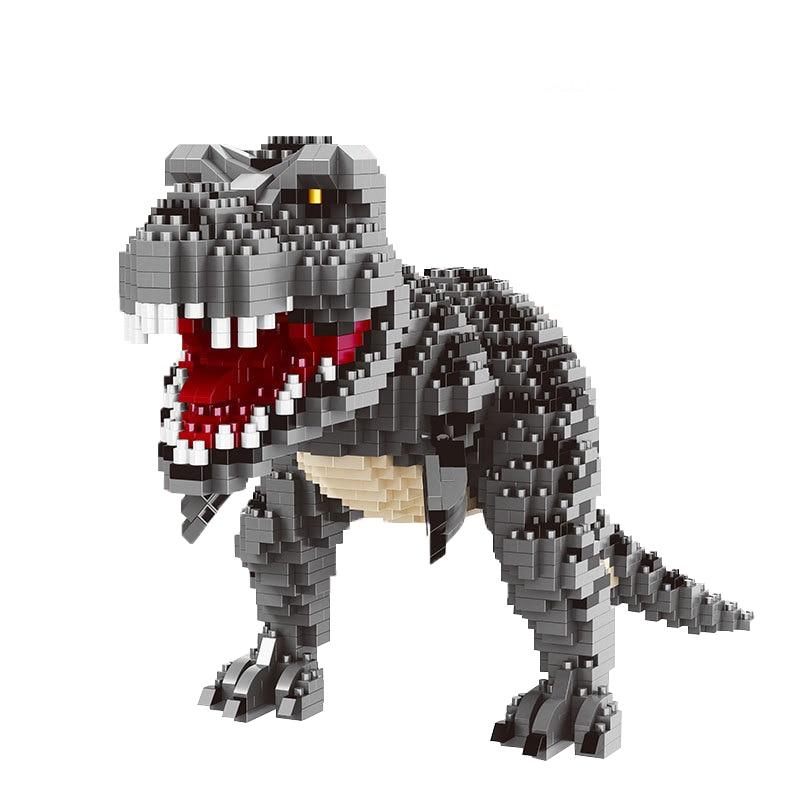 Мини-модель зеленого динозавра, строительные блоки, кирпичи, игрушка, Классическая модель, фигурка Юрского периода, развивающие игрушки для...