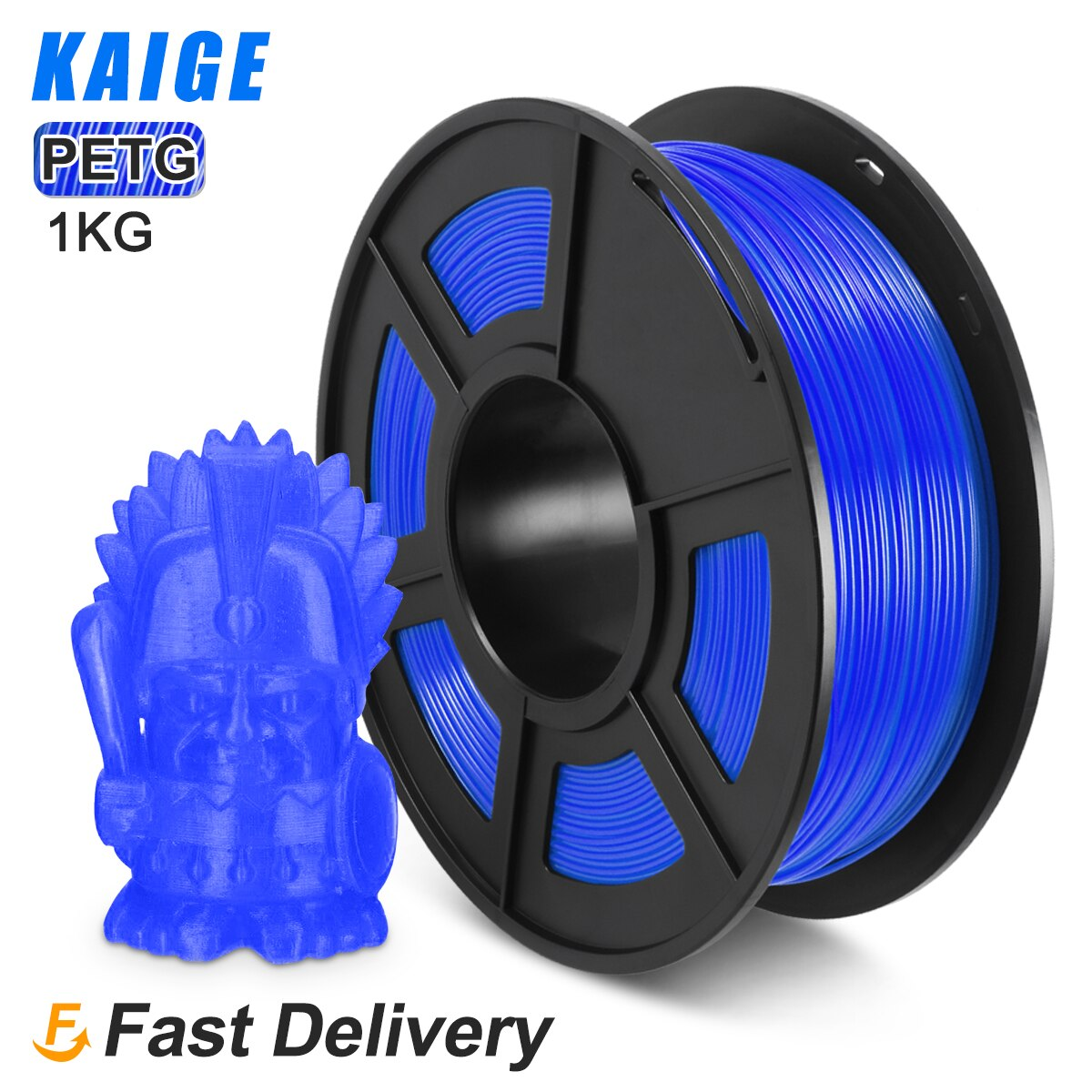 KAIGE 3D Printer Filament Petg Plastic 1.75mm Diameter 100% No bubble Tolerance +-0.02MM Petg  blue Bright Color For 3D Pen