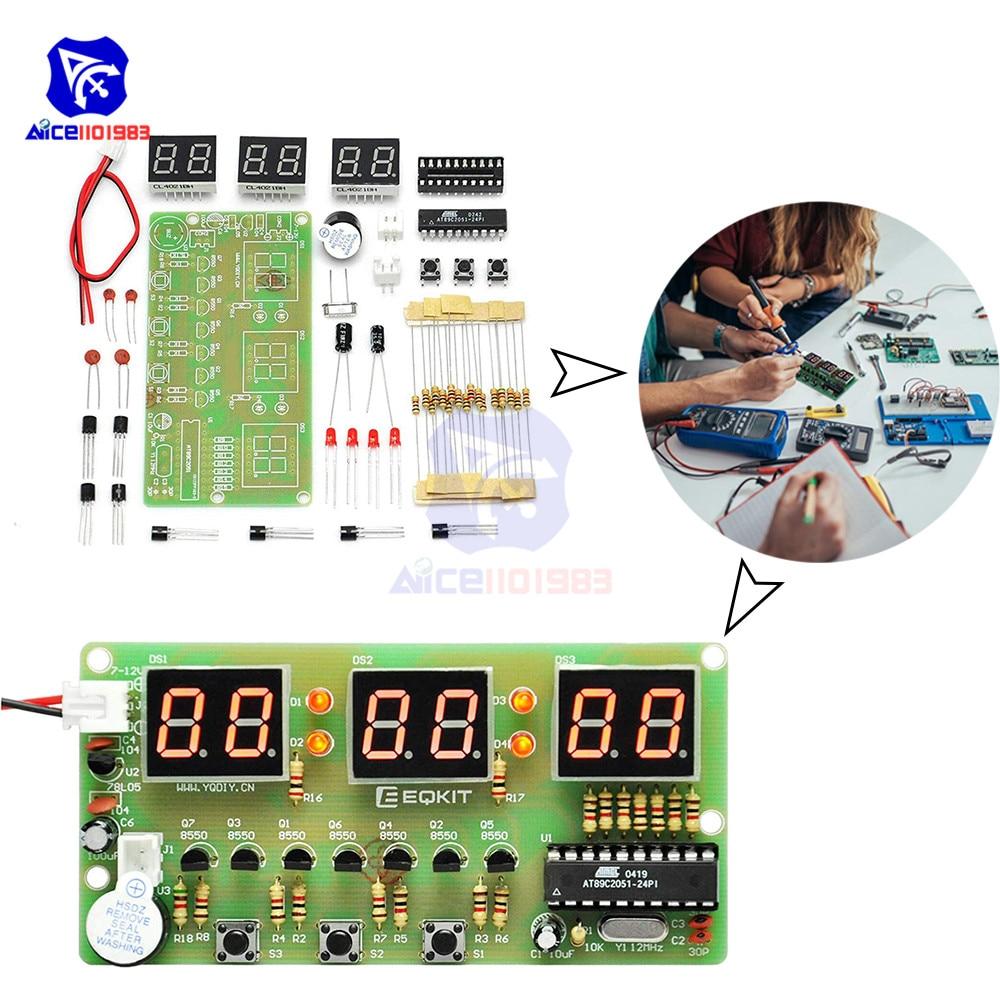 Diymore цифровые часы DIY Kit 6 бит C51 AT89C2051 чип электронный будильник комплект FR-4 печатной платы пайки практика для Arduino