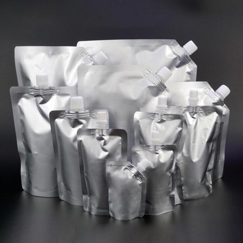 AliExpress - HARDIRON Stand Up Spout Pouch Liquid Bag Reusable Durable Aluminum Foil Bag Beer Juice Drink Bag Sealed Packaging Bag Portable