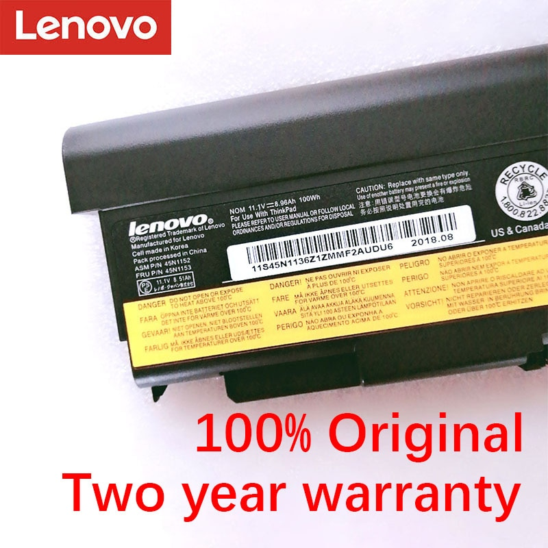 Batería Original Lenovo Thinkpad T440p T540P 45N1152 45N1153 W540 45N1145 45N1147 45N1149 45N1151 45N1153 L440 L540