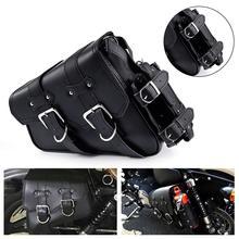 Nouveau sac de selle de moto Ultra-Durable moto Autobike porte-bouteille de mazout en cuir pour Harley Sportster