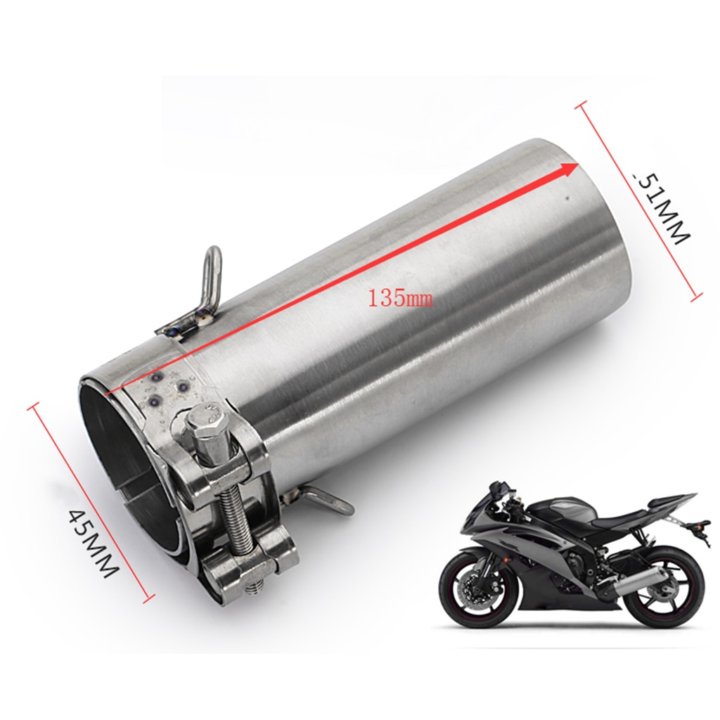 Sistema de escape de tubo medio de escape deslizante para Yamaha R6 2006-2014