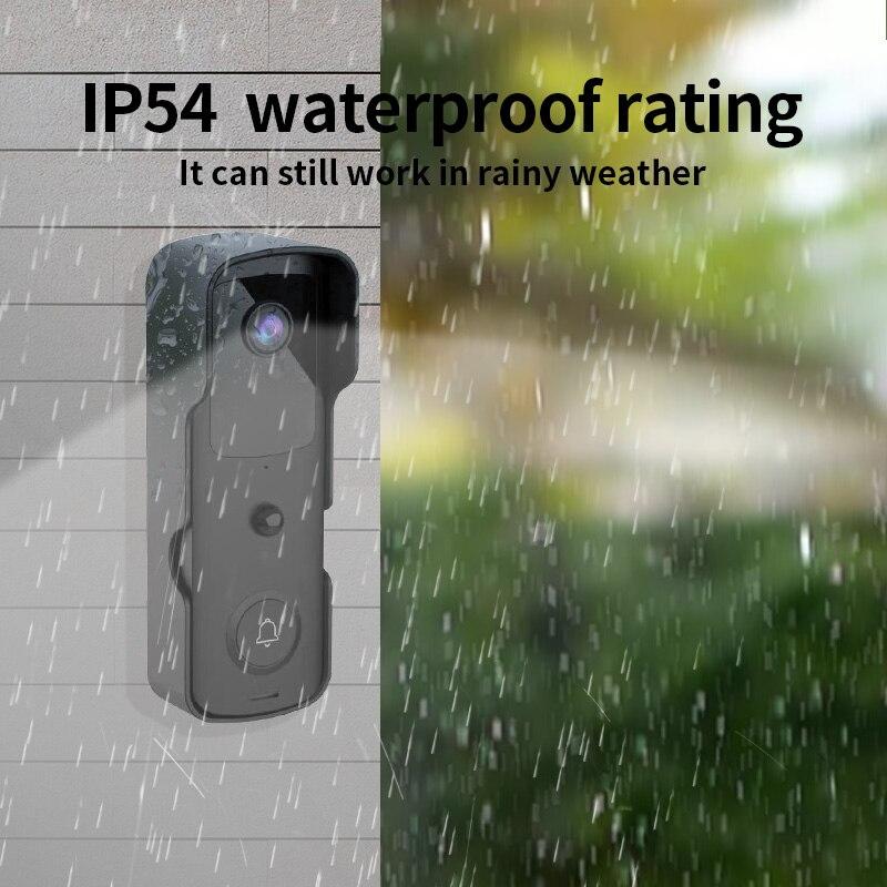 WiFi Doorbell Camera Video Door bell Intercom IR Alarm Wireless Security Camera Waterproof 1080P HD  Remote Monitoring enlarge