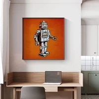abstract pop style space astronaut canvas painting posters and print modern wall art pictures for living room bedroom home decor