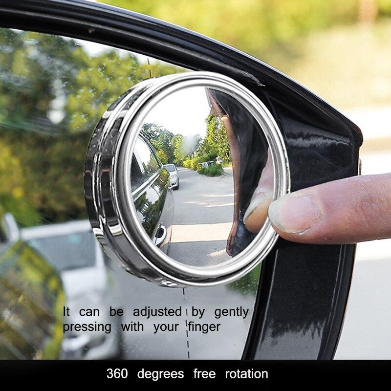 1 шт. большое видение 360 градусов вращающееся мини зеркало заднего вида Автомобильное Зеркало безопасное водонепроницаемое зеркало заднего...