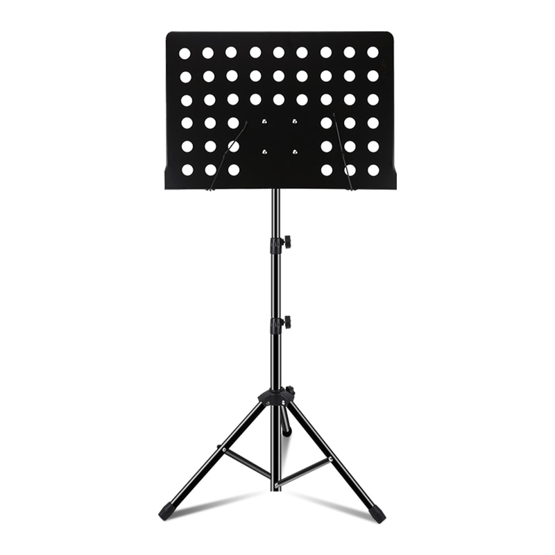 Musical Instrument Black Metal Music Stand Panel Can Be Folded Alloy Music Stand Collapsible Alloy Pipe Rack
