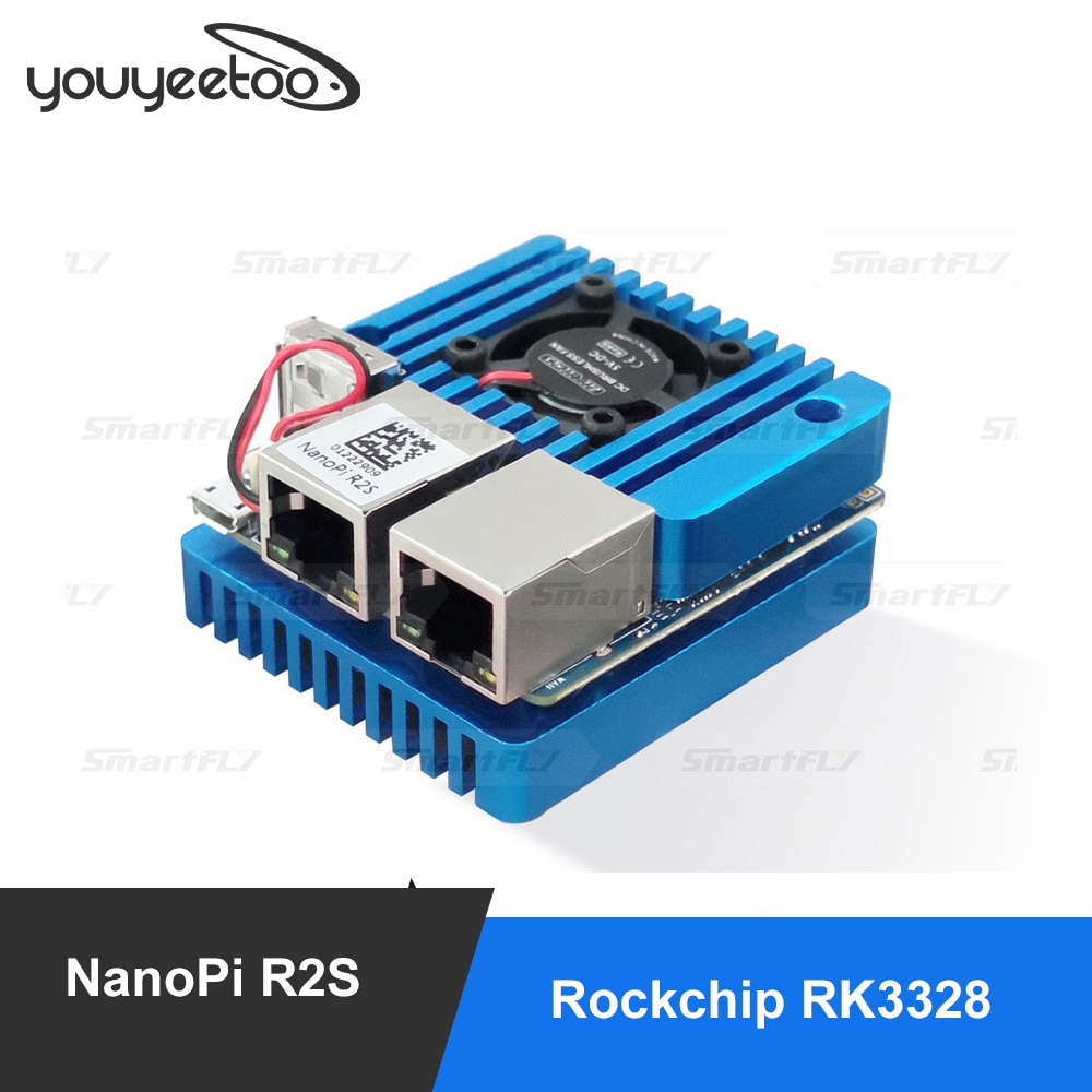 Freedlyelec-موجه سفر صغير محمول Nanopi R2S ، OpenWRT مع منافذ إيثرنت مزدوجة جيجابت في الثانية ، 1 جيجابايت DDR4 ، متوافق مع RK3328 lenovo