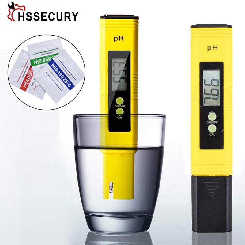 PH Meter 0.01 PH High Precision Water Quality Tester with 0-14 PH Measurement Range LED Digital ph Tester Measuring Instruments