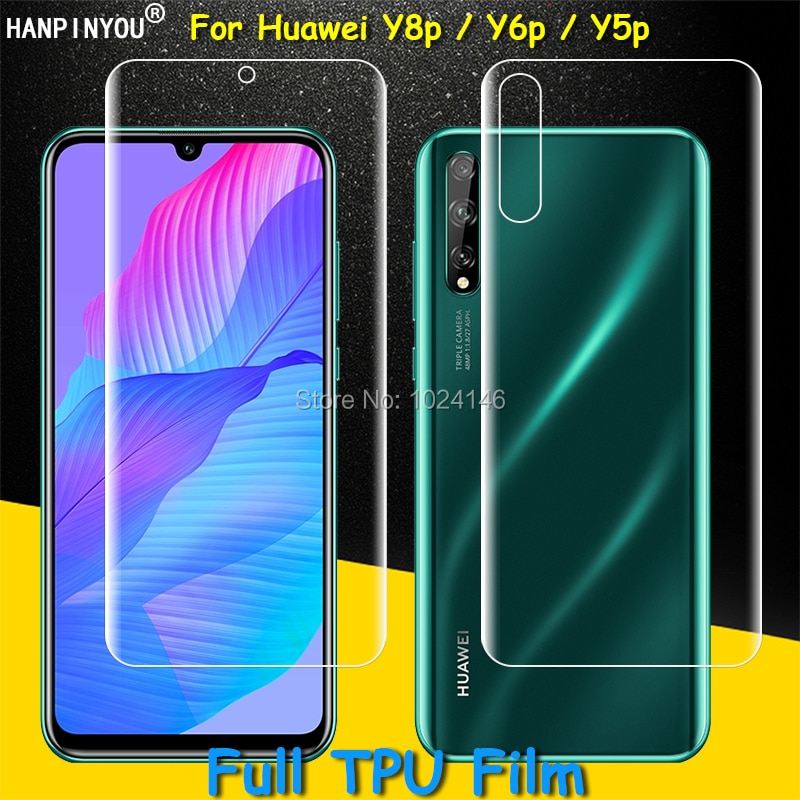 Front / Back Full Coverage Clear Soft TPU Film Screen Protector For Huawei Y8p Y6p Y5p Honor 9S Cove