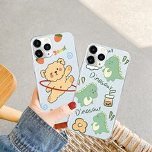 Cute Dinosaur Bear Cover For Xiaomi Redmi 6 6A 7 7A 8 8A 9 9A 9C Note 5 8Pro 8T 9s 9Pro 10 10Pro K20