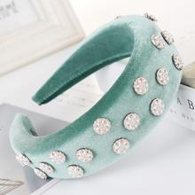 Accesorios de terciopelo de perlas acolchadas de esponja para el cabello de mujer