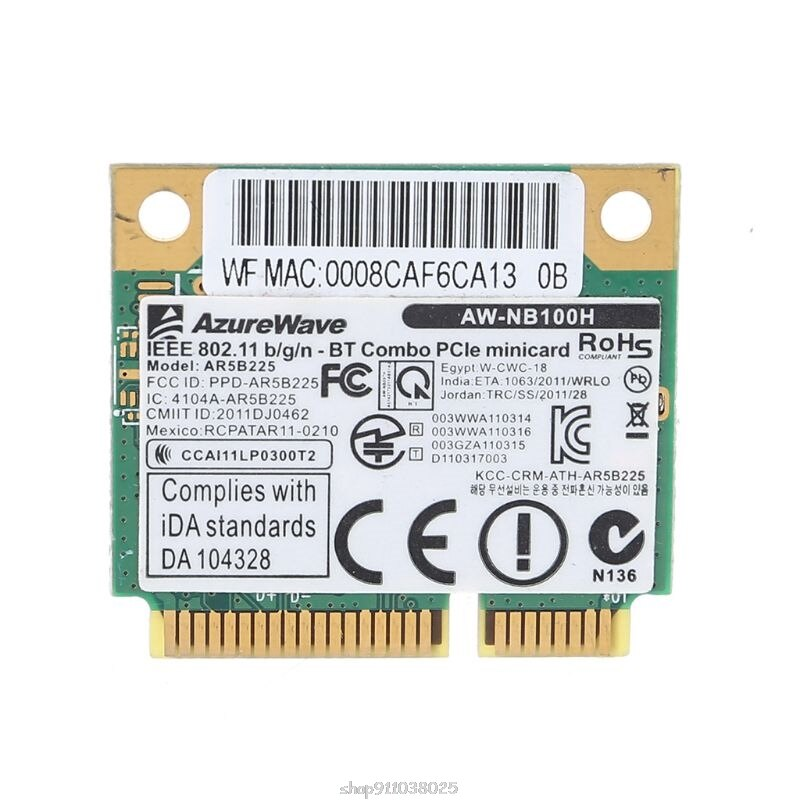 AW-NB097H AW-NB100H AW-NB126H ar9485 ar3012 ar5b225 300mbps meio mini pci-express bt4.0 wlan sem fio wifi cartão ja06 20 dropship