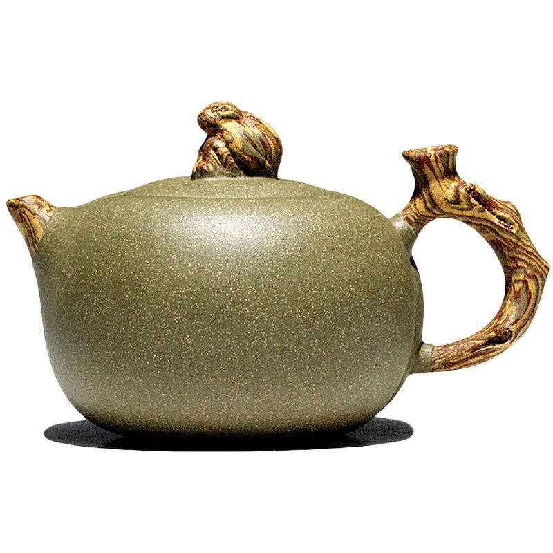 Yixing xiao-lu li chang tao 】 manual puro recomendado adecuado para la tetera de guisante verde arena espíritu mono en el deleite