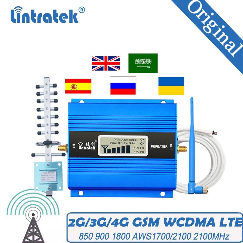 Усилитель сигнала GSM LTE 2G 3G 4G для дома, 900 МГц 1800 МГц 2100 МГц WCDMA 65db, простой в установке ретранслятор сигнала с высоким коэффициентом усиления