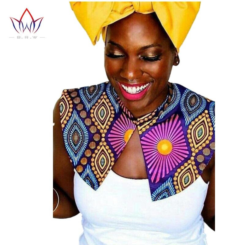 Wholesale Female False Collar Cotton Ethnic Vintage Traditional African Clothing Print Cape Women Clothes Accessories WYA15