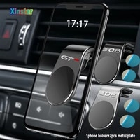 plastic gt car phone holder sticker for peugeot 108 208 308 408 508 2008 3008 4008 5008 car accessories