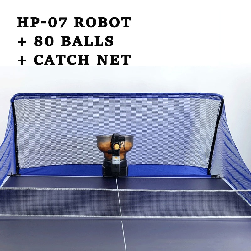 Automatic Ping Pong Trainer Robot Table Tennis Robot Machine for Training HuipangHP-07 Pingpong Ball with Catch Net 80 Balls 8