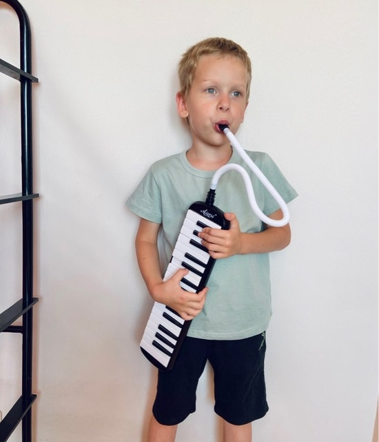 Aiersi 32 Key Melodica Piano Melodic Keyboard Instrument musical gifts with Carrying Bag Strap Mouthpiece enlarge