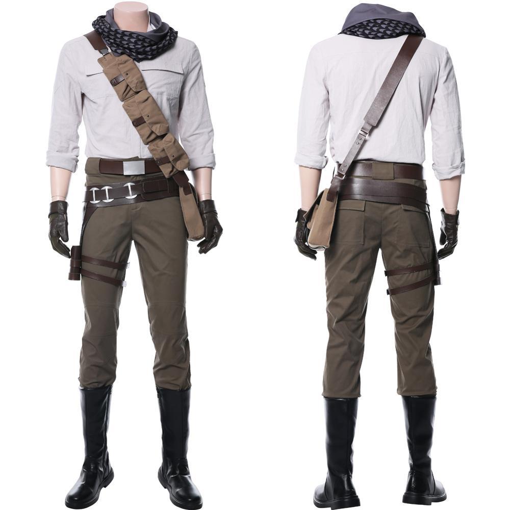 Estrela 9 a ascensão de skywalker poe dameron cosplay traje adulto homem uniforme conjunto inteiro halloween carnaval trajes