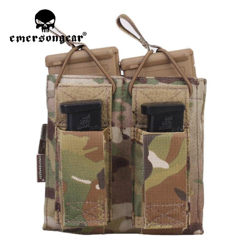 Emersongear 5,56, bolsa de doble apertura para revistas, bolsa de almacenamiento con propósito Molle, accesorio táctico para Airsoft, juego CS de caza