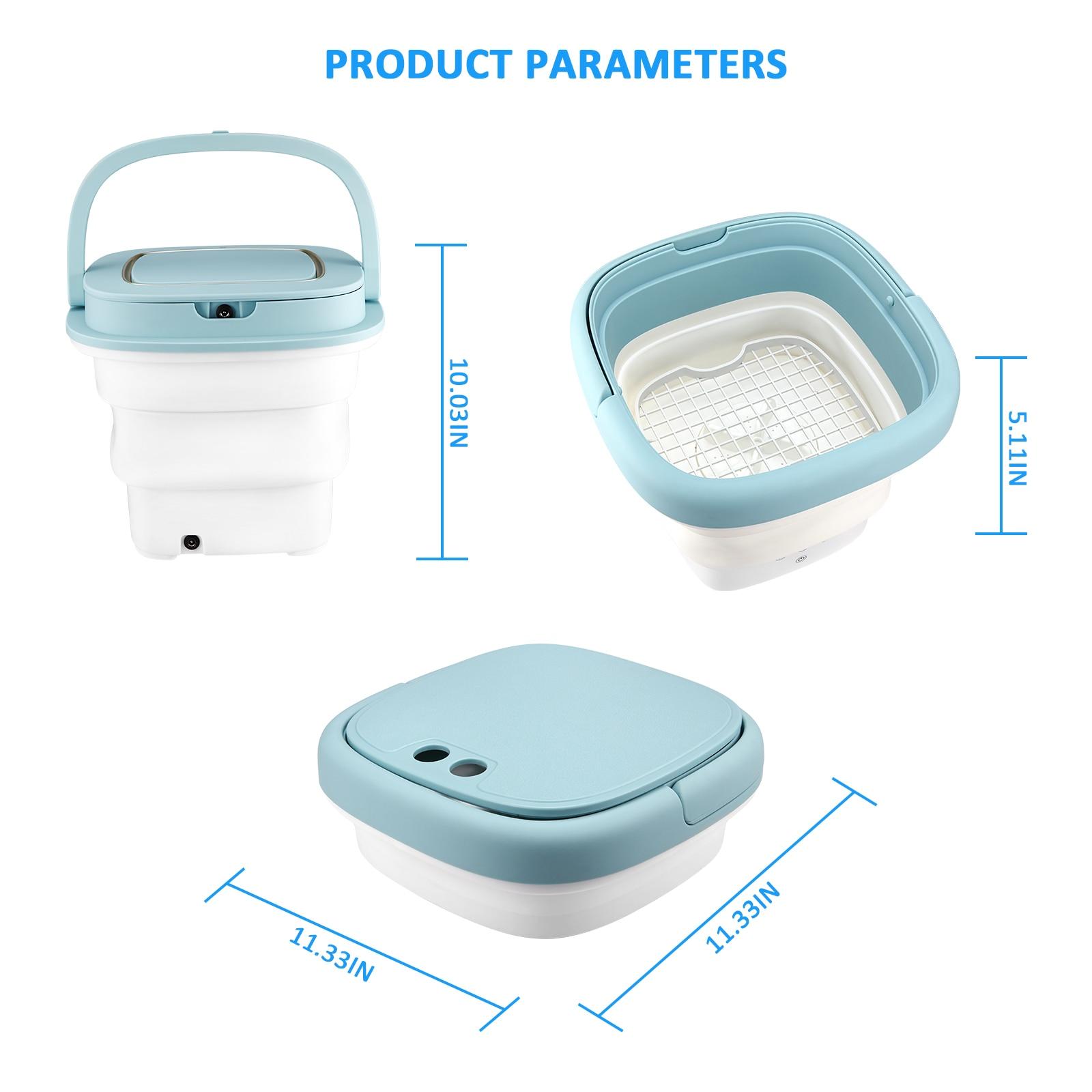 Portable Washing Machine Folding Washing Machine Ultrasonic Cleaning Sterilization Drying Washing Machine Small Mini Portable enlarge