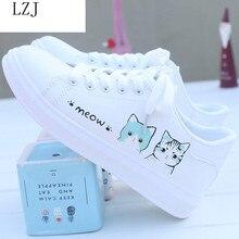 Women Sneakers Fashion Vulcanized Shoes Women Pu Leather Platform Shoes Women Lace Up White Casual S
