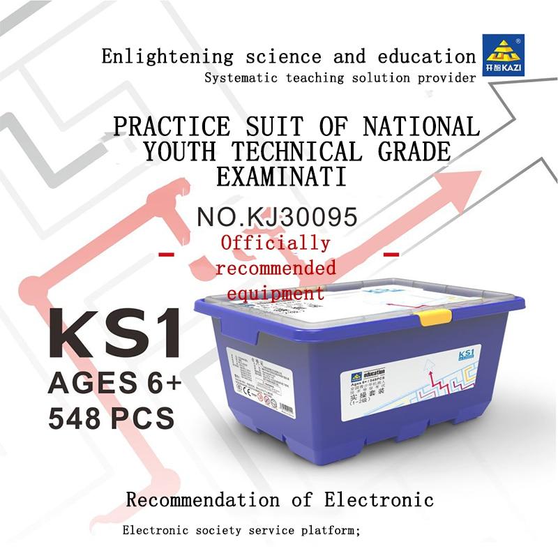 Original KAZI KJ30095 Steam multi-functional high-tech youth practical building block programming educational toys