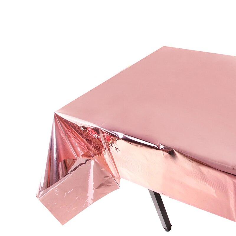 Скатерти из розового золота для свадебных торжеств и свадебных торжеств, 1 шт., 100x273 см, одноразовые скатерти для взрослых на день рождения