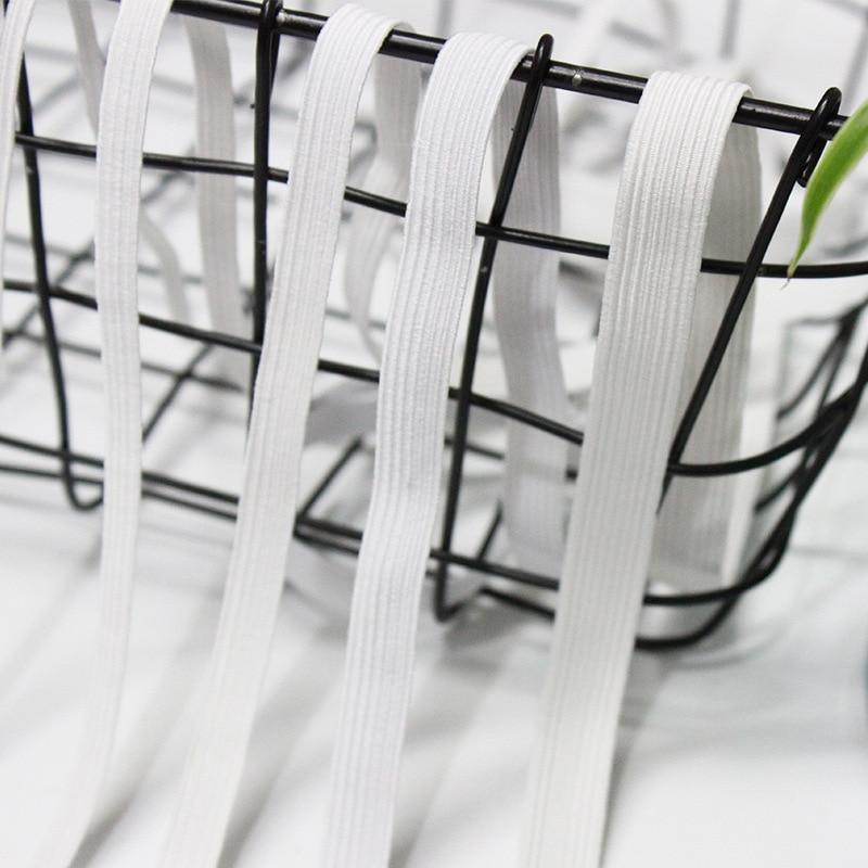 Bandas Elásticas blancas y negras 5 yardas 3/6mm bandas elásticas de costura de poliéster para prendas de vestir accesorios de costura bandas DIY