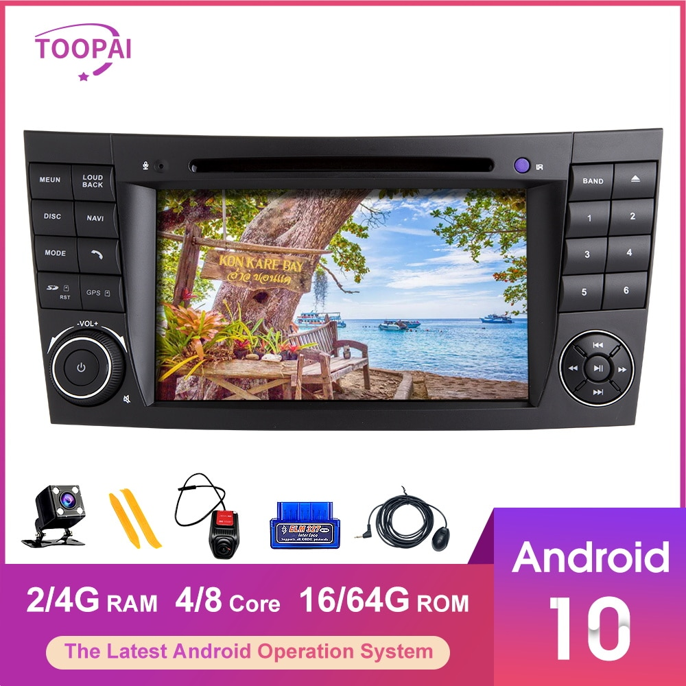TOOPAI Android 10 Für Mercedes Benz E-Klasse W211 E300 CLS W219 2002-2009 Navigation GPS Multimedia-Player auto Radio 2/4G 16/64G
