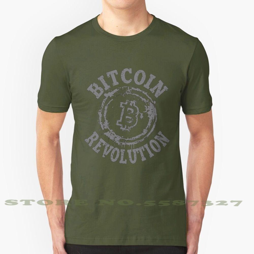 Bitcoin Revolution, camiseta Vintage de moda, camisetas Bitcoin, Crypto, código de efectivo, minería, revolución de criptomoneda