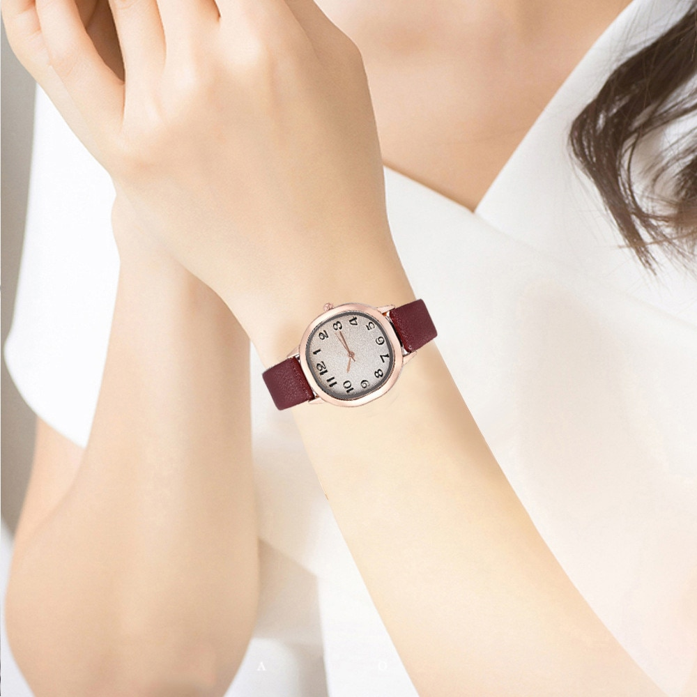 Women Classic Printed Clock Casual Watches Atmospheric Leather Quartz Alloy Shell Square Edging Watc