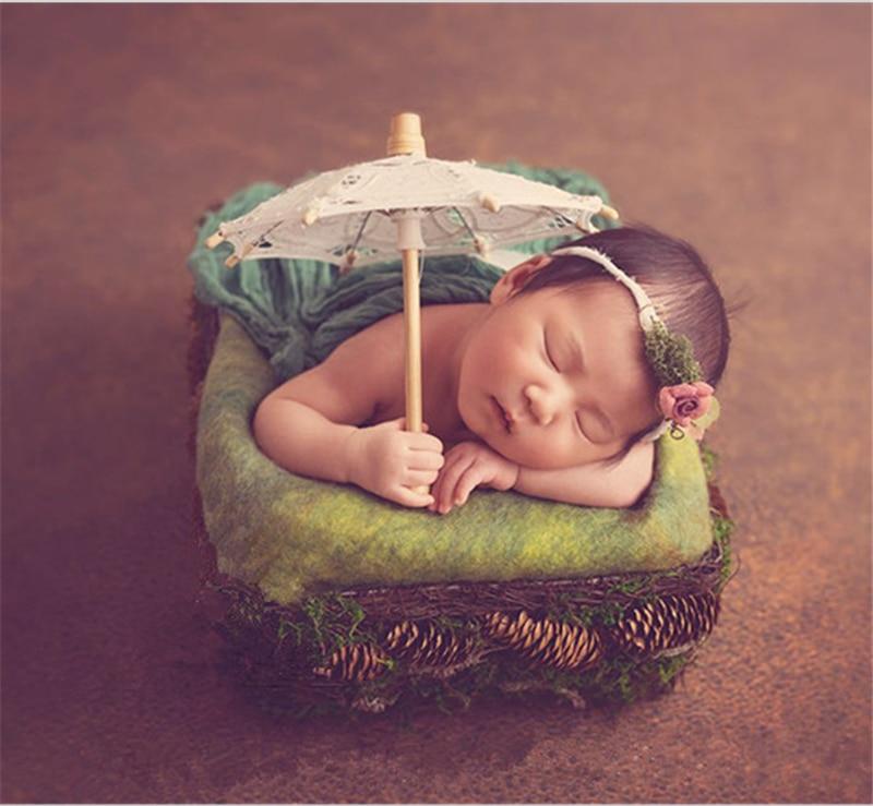 Newborn Photography Props Mini Lace Umbrella Baby Shoot Studio Accessories